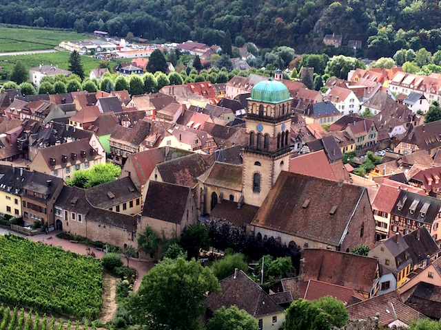 View of Kaysersberg from the château.