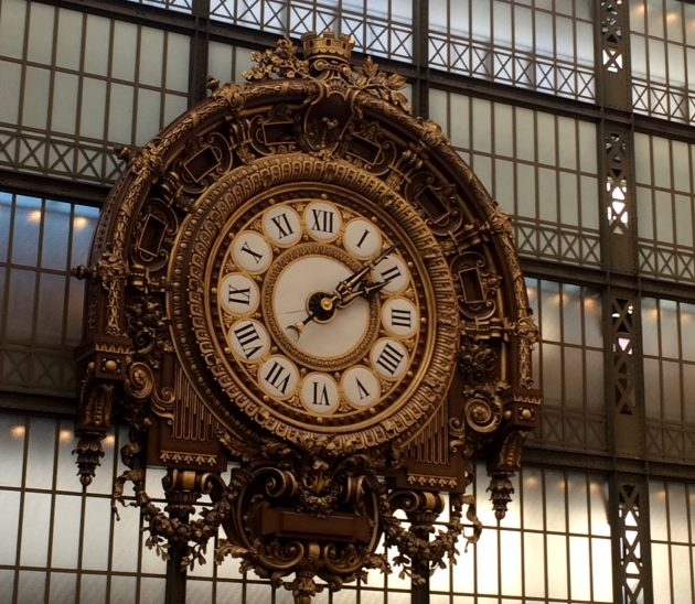 Clock at Musee d'Orsay, Paris. ©DeborahLJacobs