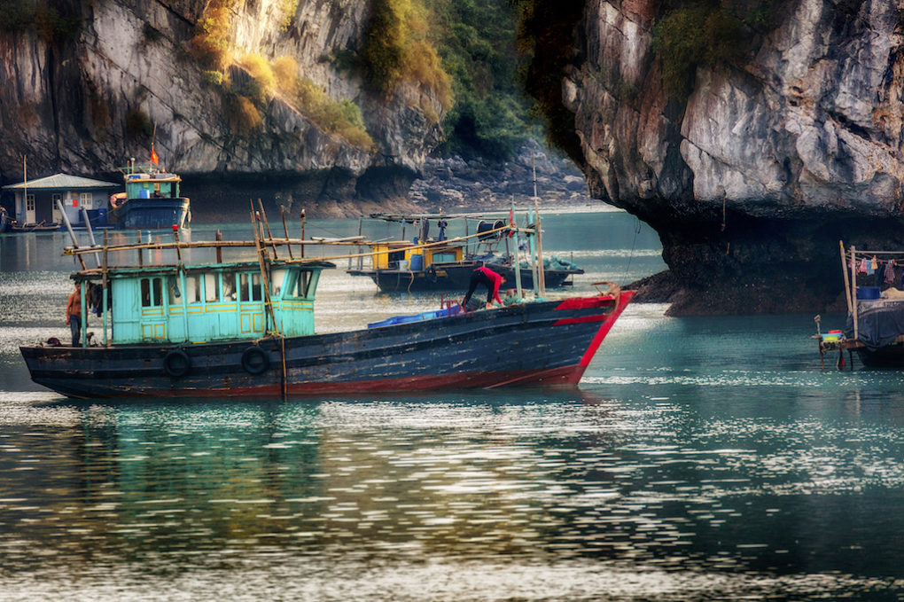 Halong Bay Boats ©2018 Steve Leimberg UnSeenImages.Com