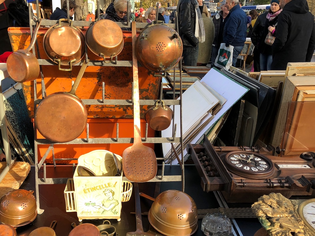 Copper Pots Paris Flea Market