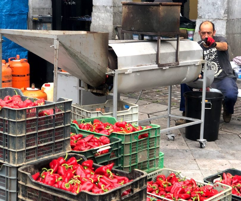 It's Piquillo Pepper Season. So Don't Mess with the Roaster in Tolosa
